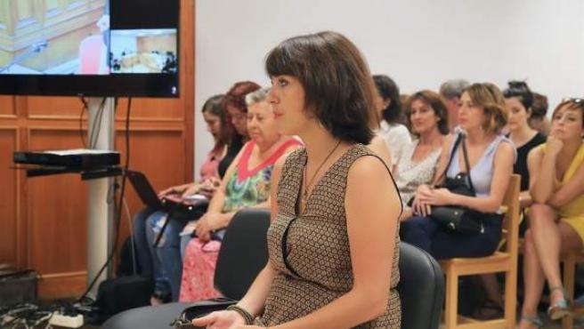 Juana Rivas, durante el juicio.