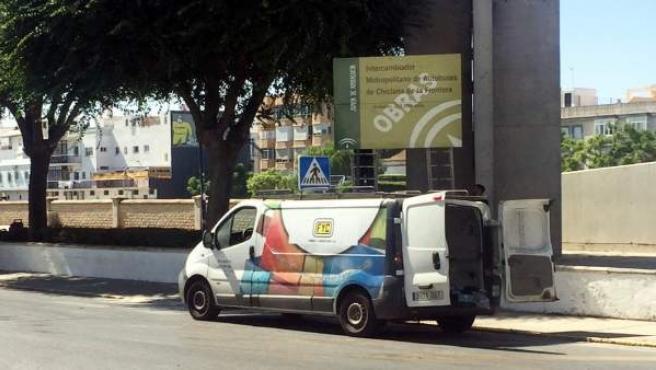 Obras para el nuevo apeadero de autobuses de Chiclana de la Frontera