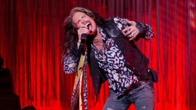 El cantante de Aerosmith, Steven Tyler, durante un concierto en solitario en Nueva York en 2016.