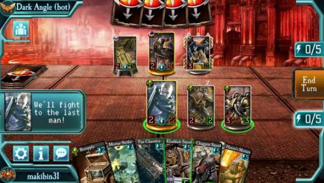 'The Horus Heresy: Legions', un videojuego para móvil creado por Isabel y Andrés Tallos.