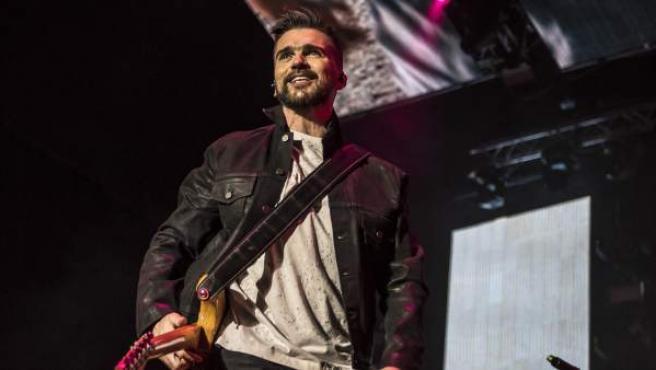 Juanes, durante uno de sus conciertos.