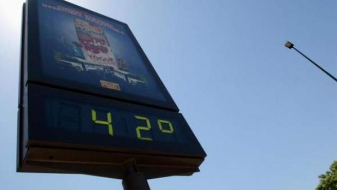 Ola de calor en España.