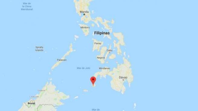 Localización de la isla de Basilan, al sur del archipiélago filipino.