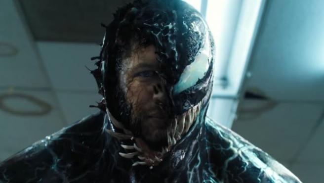 Tom Hardy es poseído por un 'simbionte' en 'Venom', un 'spin-off' del personaje de 'Spider-Man'.