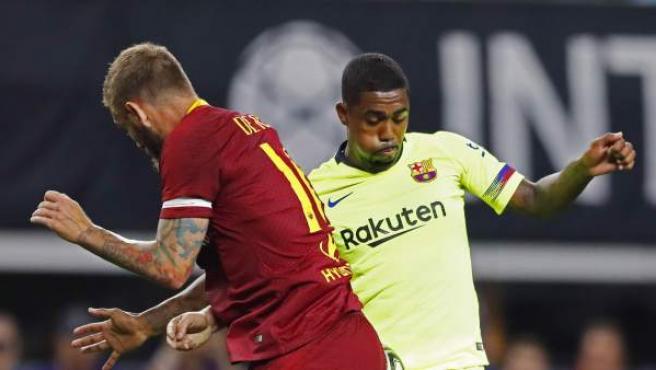 Malcom durante el partido frente a la Roma