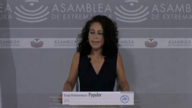 La diputada del PP María Ángeles Muñoz