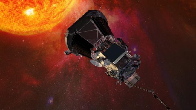 Imagen artística de la sonda solar Parker de la NASA.