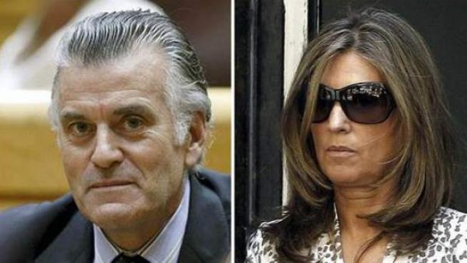 El extesorero del PP Luis Bárcenas y su esposa, Rosalía Iglesias.