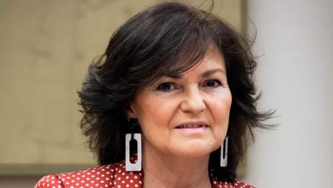 La vicepresidenta del Gobierno y ministra de Igualdad, Carmen Calvo.