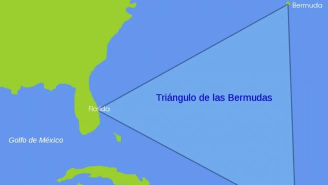 Imagen del área ubicada entre Florida, Puerto Rico y las islas Bermudas, conocida como el Triángulo de las Bermudas.