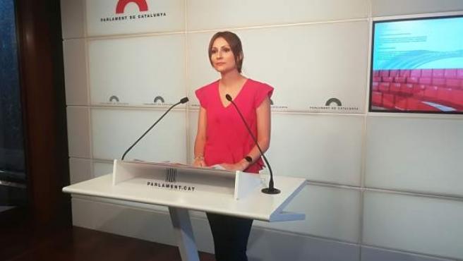 La diputada de Ciudadanos en el Parlament, Lorena Roldán.