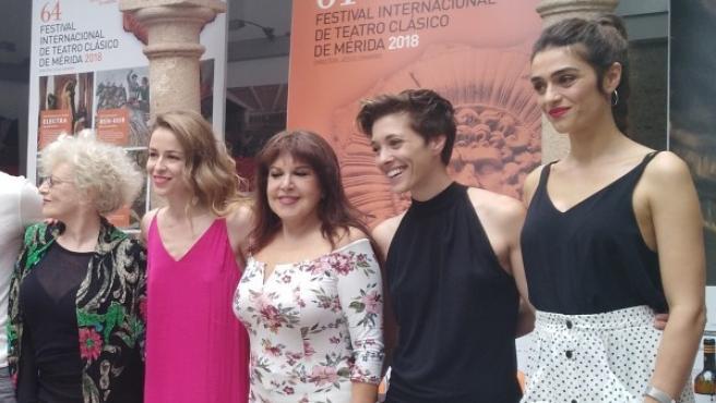 Presentación de 'Las Amazonas', que se estrena en el Festival de Teatro Clásico de Mérida.