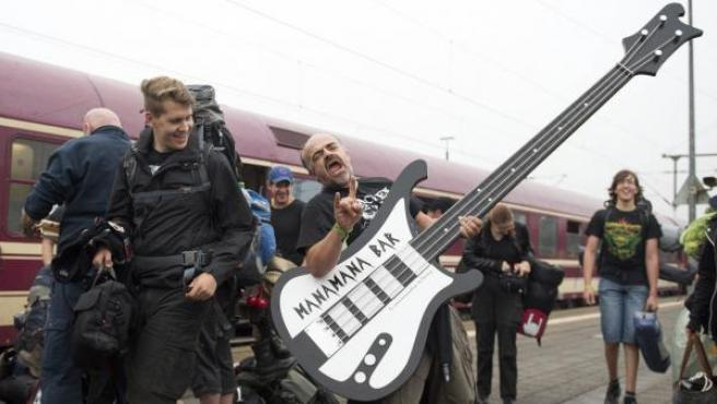 Alrededor de 600 visitantes llegaron en el Metal train al festival Wacken Open Air, que se celebra del 4 al 6 de agosto.