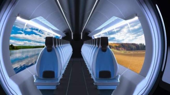 En la magen, el Hyperloop UPV.