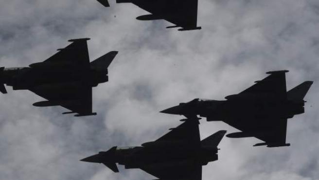 Imagen de varios Eurofighter.