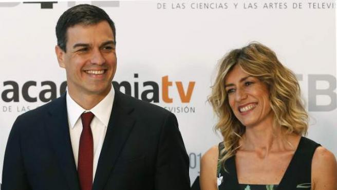 Pedro Sánchez y su esposa, Begoña Gómez.