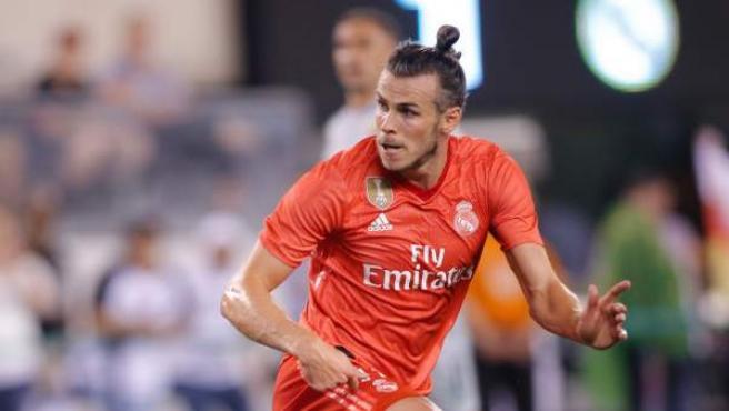 Gareth Bale, durante el partido frente a la Roma