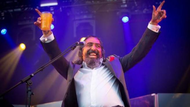 El cantaor Diego El Cigala, durante su actuación esta noche en la primera jornada del festival Sonorama Ribera, en Aranda de Duero (Burgos)