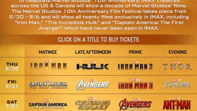 10th Anniversary Film Festival: así es el festival de cine con el que Marvel se autohomenajea