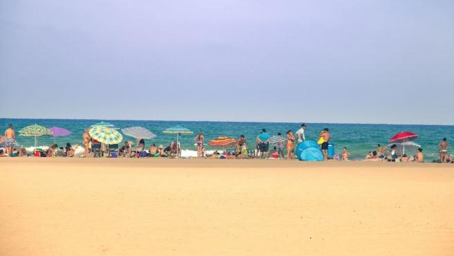 Imagen de la playa de la Malvarrosa, en Valencia.