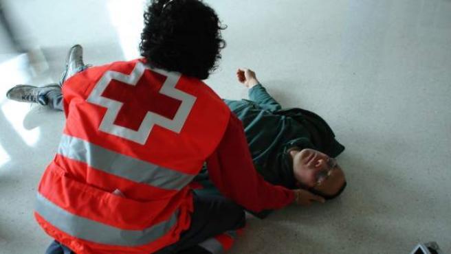 Socorrista de Cruz Roja.