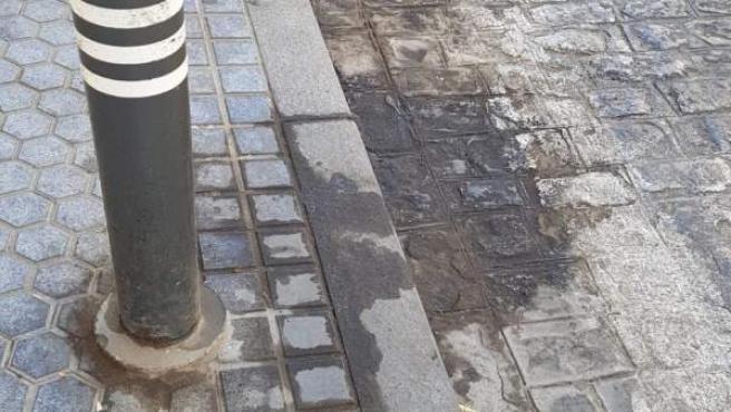Suciedad en las calles del casco histórico de Sevilla