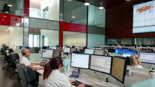 Centro de Coordinación de Emergencias (Cecem 112) en Jaén.