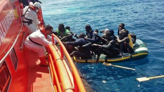 Imagen de Archivo. Migrantes rescatados