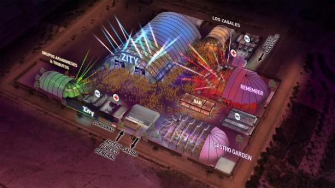 Plano del Espacio Zity de Valdespartera
