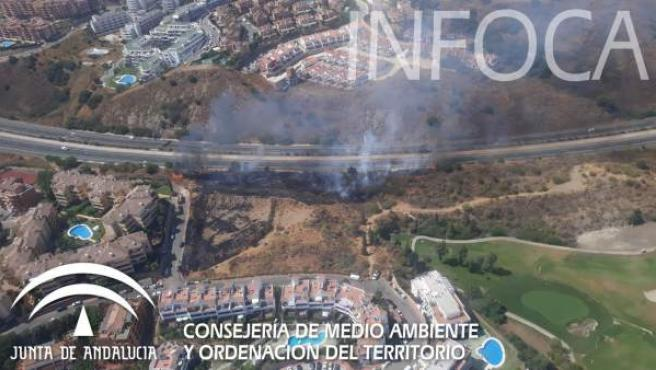 Incendio en Calahonda