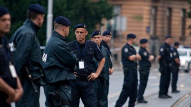 Miembros de la policía croata.