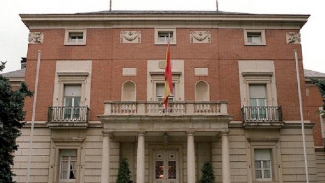 Imagen del exterior del Palacio de la Moncloa.