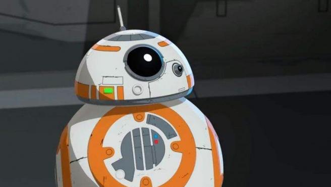 BB-8 capturado en el tráiler de la nueva serie de la saga galáctica, 'Star Wars Resistance'.