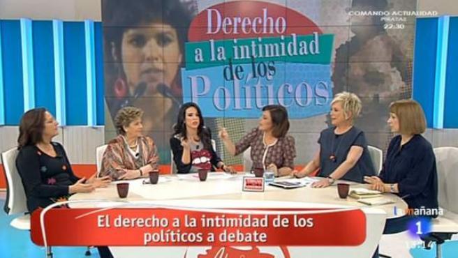 Imagen del 'Amigas y conocidas', debatiendo sobre el derecho a la intimidad de los políticos.