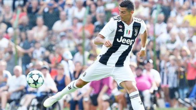 Cristiano Ronaldo, en un amistoso con la Juventus