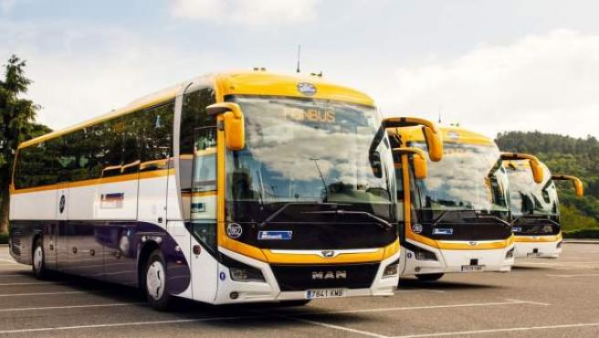 Autobuses de la empresa Monbus