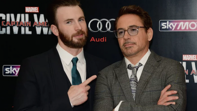 Chris Evans responde al troleo de Robert Downey Jr.