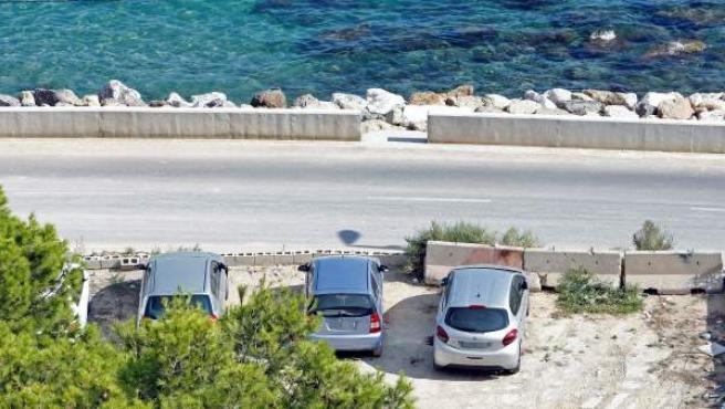 Aparcamiento del crimen de Alicante, en el que una pareja mató al marido de ella.