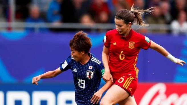 España en su partido contra Japón