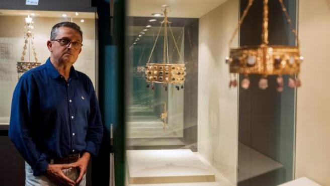 El responsable del centro de interpretación del tesoro de Guarrazar, Pedro Antonio Alonso.