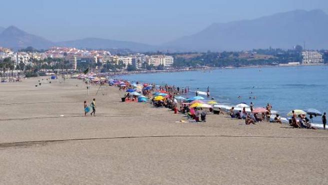 Playa de Estepona, en la Costa del Sol (Málaga)