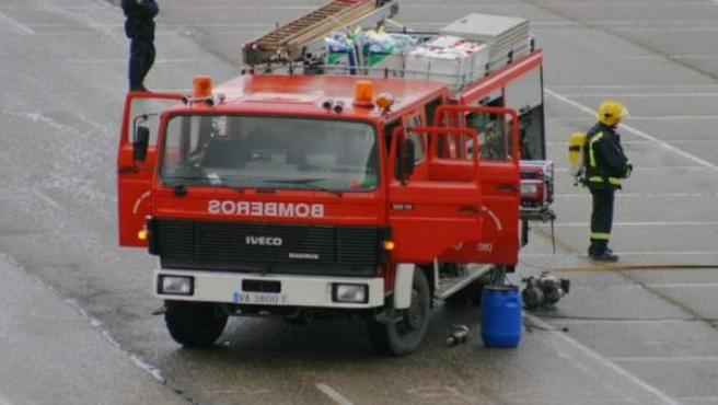 Camión de los bomberos de Valladolid.