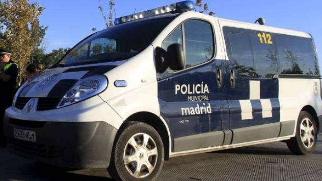 Furgón de la policía municipal de Madrid en una imagen de archivo.