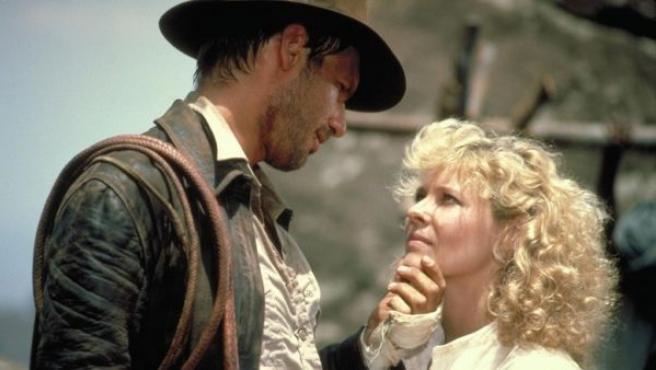 Harrison Ford y Kate Capshaw en 'Indiana Jones y el templo maldito' (1984).