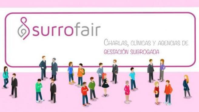Cartel de la feria Surrofair que promocionará la gestación subrogada en Madrid.