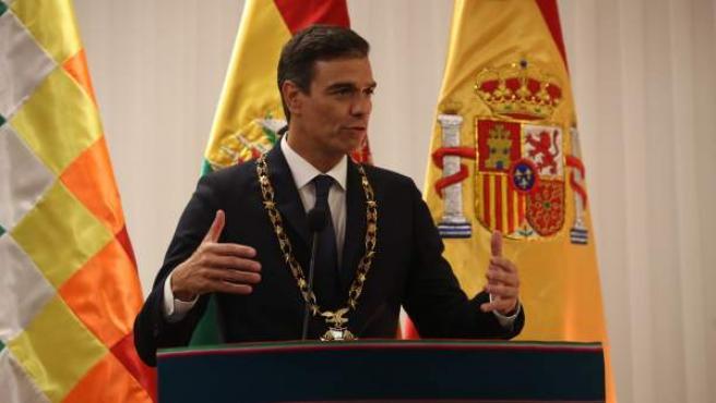 Pedro Sánchez, en Bolivia.