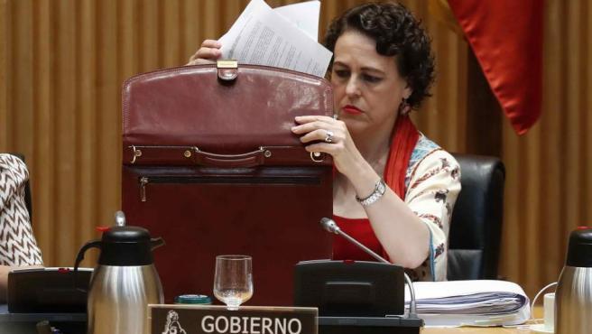 La ministra de Trabajo, Magdalena Valerio, comparece ante la Comisión de Trabajo.