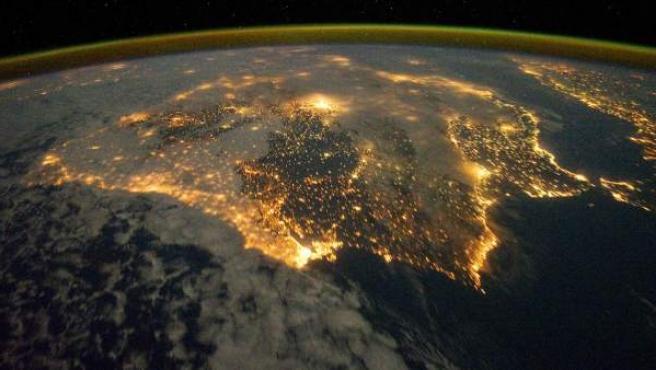 Vista de España desde el espacio.