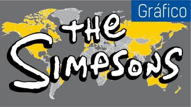 El logotipo de los Simpson, imposible no reconocerlo.