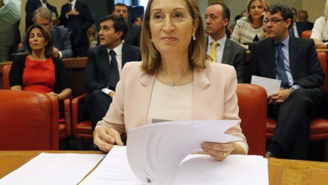 Ana Pastor, en el Congreso de los Diputados.